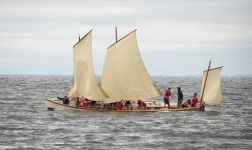 Getting ready for a tack under full sail