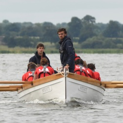 Rowing in for the start of the Jacktsay Transfer