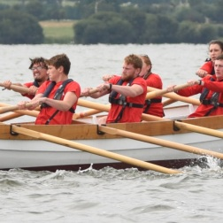 Rowing requires a lot of hard work, timing and effort